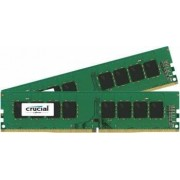 Kit Memorie Crucial 2x4GB DDR4 2400MHz CL17 Single Rank x8