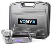 Vonyx WM73 Système radio sans fil 2 canaux UHF