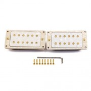 ELECTROPRIME Humbucker Pickups w/ Screws for Gibson Paul LP Epiphone Guitar White Pearl