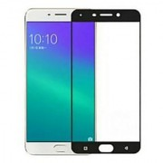 Tempered Glass For Oppo A57 Full Screen Black Colour Standard Quality