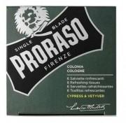Proraso Cologne Refreshing Tissues - Cypress & Vetyver 6 stuks