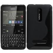 Силиконов гръб ТПУ S-Line за Nokia Asha 210 Черен