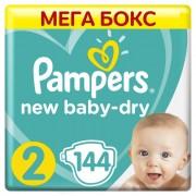Pampers Подгузники New Baby-Dry Mini р.2 (4-8 кг) 144 шт.