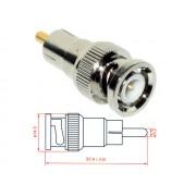 NTR CON48 BNC dugó - RCA dugó adapter aranyozott belső érintkezőkkel