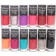 Makeup Mania Nail Polish Set of 12 Pcs (Multicolor Set # 86)