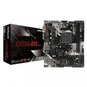 Дънна платка ASRock A320M-DVS R4.0, A320, AM4, DDR4, PCI-E (DVI&VGA), 4x SATA 6.0 Gb/s, USB 3.1 (Gen1), Micro ATX