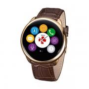 Smartwatch Mykronoz ZeRound Premium Curea Piele + Curea Silicon Maro