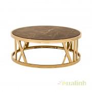 Masuta de cafea design modern din metal finisaj auriu Baccarat 108863 HZ