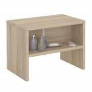 CARO-Möbel Nachttisch NEY mit offenem Fach in Sonoma Eiche