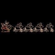 vidaXL Коледна украса, 4 светещи елена с шейна, 500x10x80 см