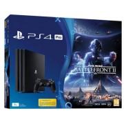Consola Sony PlayStation 4 Pro 1TB + Star Wars Battlefront II (Neagra)