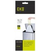 Комплект от 20 бр. торби за смет EKO с връзки - размер D (18-21 литра)