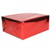Shoppartners Folie kadopapier rood metallic