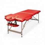 Pat masaj 2 sectiuni - - masa masaj - structura Aluminiu Rosu
