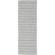 Kelim Long Stitch - Mörk Grå matta 80x240 Modern, Avlång Matta