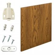 [en.casa]® Variabilní designový systém - dvířka - 42x42 cm - imitace ořechového dřeva