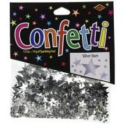 Beistle Cn131 Silver Stars Confetti, 1/2 Ounce