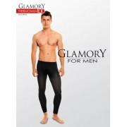 Heltäckande plus size legging för män Thermoman från Glamory black XL