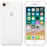 Husa protectie spate Apple silicon white pt iPhone 8/7