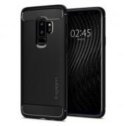 Husa telefon spigen Carcasa Spigen Rugged Armor Samsung Galaxy S9 Plus Matte Black