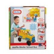 Blocuri De Constructie - Autobuz Scolar.72 piese de joc