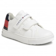 Сникърси TOMMY HILFIGER - Low Cut Velcro Sneaker T3B4-30719-0193 M White/Blue/Red Y003