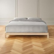 Simple Whitewash Bed Base King by CB2
