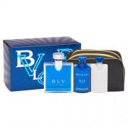 Bvlgari BLV Pour Homme set cadou EDT 100 ml + 75 ml Balsam dupa barbierit + 75 ml Gel de dus + Borseta cosmetice pentru bărbați