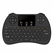 BLCR H9 mini 2.4GHz inalambrico teclado de 92 teclas con touchpad - negro