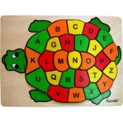 Puzzled Kids Playschool Preschool Puzzled Raised Puzzle Abc Turtle Wooden Toys