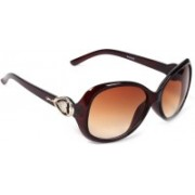 Eyeland Rectangular, Oval Sunglasses(Brown, Clear)