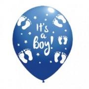 Balon latex it's a boy imprimat global albastru 30cm