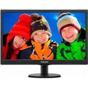 "Philips 193v5lsb2 Monitor Display 18.5"" W-Led Wide Hd Ready Luminosità 200 Cd/m2 Contrasto 700:1 / Smart 10.000.000:1 Risposta 5ms Vga Vesa Nero V-Line - 193v5lsb2"