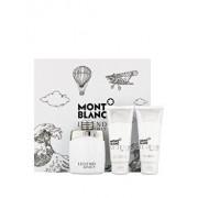 Set cadou Mont blanc Legend Spirit (Apa de toaleta 100 ml + After shave balsam 100 ml + Gel de dus 100 ml), pentru barbati