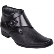 Aadi Men's Black Monk Strap Artificial Leather Smart Formals Shoes