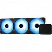 Cooler FAN Triplo RGB C/ Controlador P7-F12 PRO Preto Aeroco