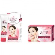 Alite Soap( Pack of 5) and Anti acne Gel ( Pack of 2) Combo Pack of 7