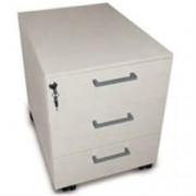 cassettiera mobile a rotelle - 3 cassetti con serratura - 42,5x53xh.52