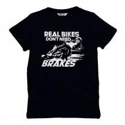 Real Bikes Don't Need Brakes Barn T-shirt