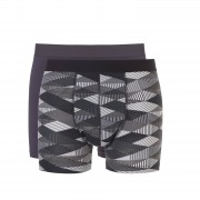 Ten Cate Heren Giftset 2-pack shorts Grey/Black Print