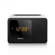 Радио с часовник и аларма Philips AJT5300W, Bluetooth, универсално зарядно, компактен дизайн, бял цвят, AJT5300W