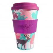 Ecoffee Take Away Mugg Lila Rådjur