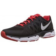 Nike Men's Dual Fusion Tr 6 Black, Metallic Silver, Gym Red and White Running Shoes -7 UK/India (41 EU)(8 US)