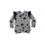 Bluza Stars - detaliu negru, 6-8 ani