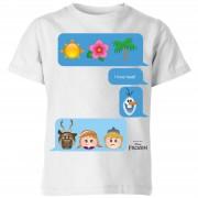 Frozen Camiseta Disney Frozen I Love Heat - Niño - Blanco - 3-4 años - Blanco