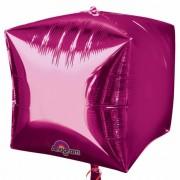 Balon folie cubez 3D magenta - 45cm, Northstar Balloons 01012