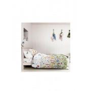 Lenjerie pentru pat matrimonial, Dormisete, Wild field-Allover, renforce imprimata, bumbac, 220 x 250 cm, Multicolor
