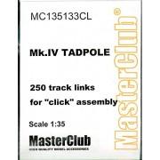 Master Club 1:35 Wwi Mk.Iv Tadpole 250 Track Links Resin Tracks #Mc135133 Cl