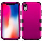 Funda Case Iphone XR Doble protector Uso Rudo Tuff - Rosa