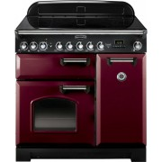 Rangemaster CDL90EICY/C Classic Deluxe Cranberry 90cm Induction Range Cooker